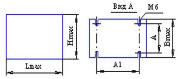 Реакторы коммутационные - габаритные размеры