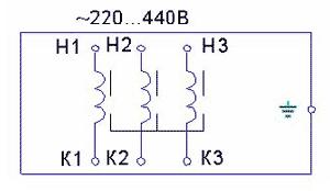 Реакторы коммутационные - схема подключения