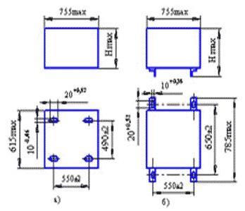 Реакторы токоограничивающие - габаритные размеры