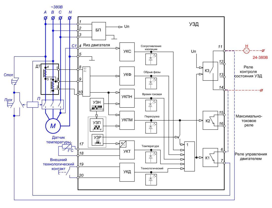 Функциональная схема УЗД 2